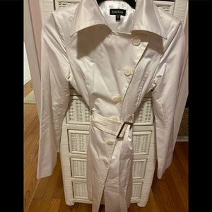 Bebe white belted trench